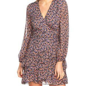 1. State Floral Lace Wrap Dress D4